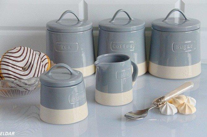 Cukiernica ceramiczna Artisan niebieska