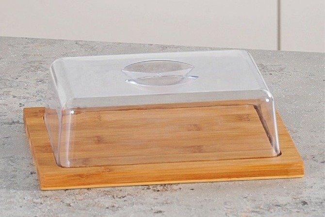 Deska bambusowa z kloszem, Kesper 25 x 20 cm
