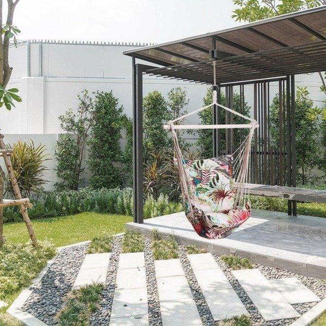 Hamak brazylijski podwieszany fotel huśtawka motyw KWIATY Liście