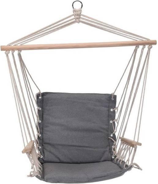 Hamak brazylijski podwieszany fotel huśtawka szary