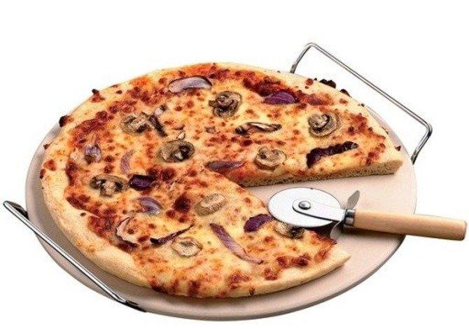 Kamień do pizzy + stojak + nóż