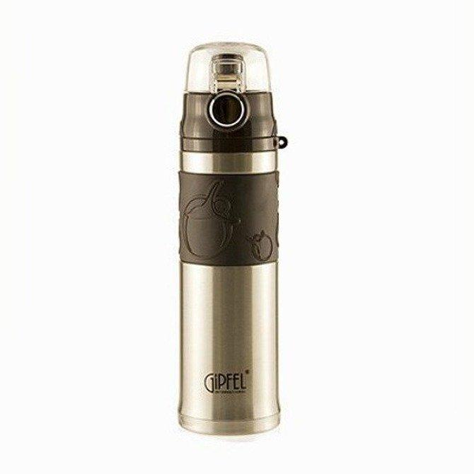 Kubek termiczny Gipel Athletic srebrno-brązowy 480ml