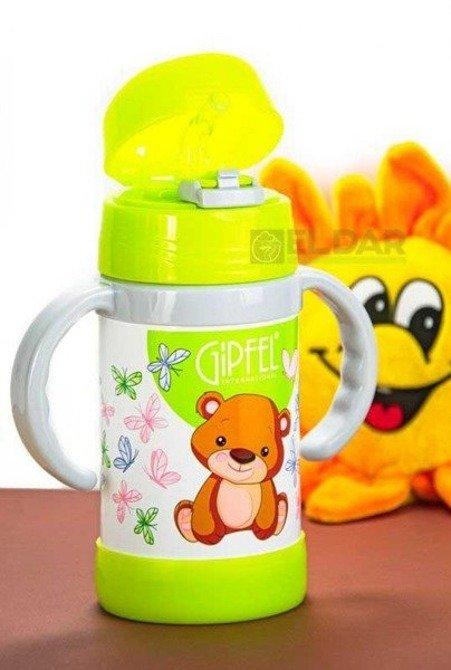 Kubek termiczny dla dzieci GIPFEL 260ml Zielony
