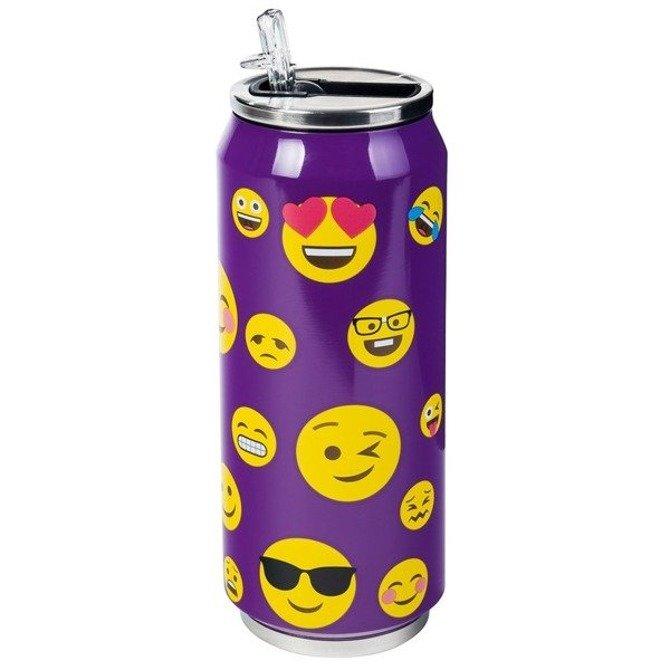 Kubek termiczny termos puszka buźka smile fioletowy 0,5L