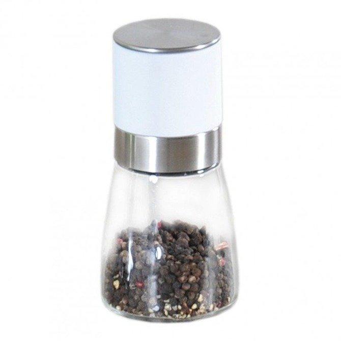 Młynek ceramiczny Kesper do soli / pieprzu biały