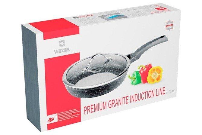 Patelnia Vinzer z pokrywą 28 cm Premium Granite Line