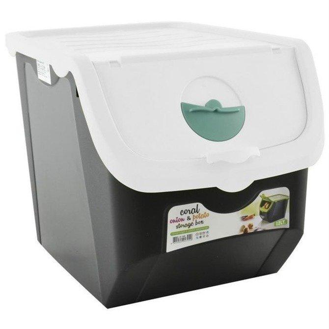 Pojemnik plastikowy na warzywa 12L biały