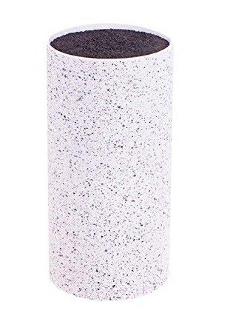 Stojak blok na noże Kinghoff biały marmur 22cm