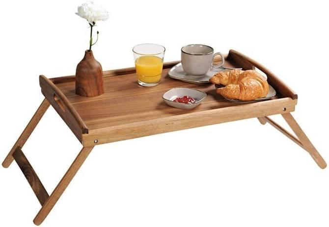 Stolik śniadaniowy składany drewno akacjowe 55x35cm Kesper