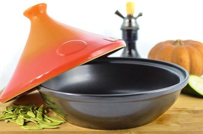 Stożkowa pokrywa ceramiczna Tagine Granchio ⌀30cm wys.17cm