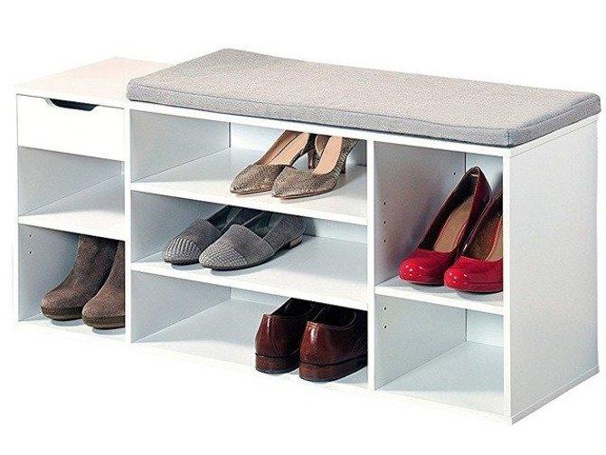 Szafka na buty Kesper z siedziskiem i szufladą 103,5x29,5x48cm