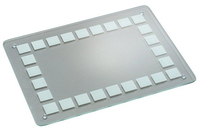 Szklana deska do krojenia 40x30 / Deska szklana przezroczysta Kesper