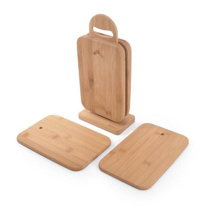 Zestaw desek bambusowych 23x15x1cm Fissman 6szt na stojaku
