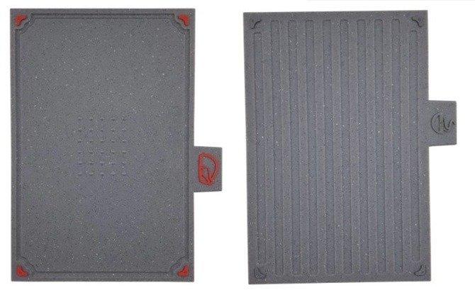 Zestaw desek do krojenia Forchetto Rucola 4szt 29x19.5 cm na stojaku
