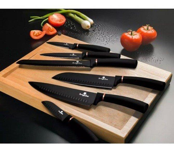 Zestaw noży Berlinger Haus w stojaku Black Rose 7 części